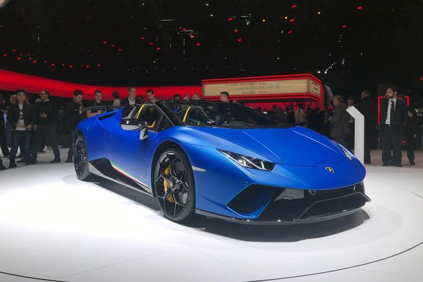 Lamborghini Huracan Performante Spyder unveiled at 2018 ...