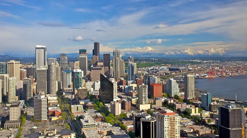 Seattle Washington Fall Skyline Wallpaper シアトル ダウンタウン旅行 格安旅行予約ならエクスペディア