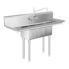 Large Kitchen Sinks Wall Pictures For Commercial Sink Unit 3 Basin Stainless