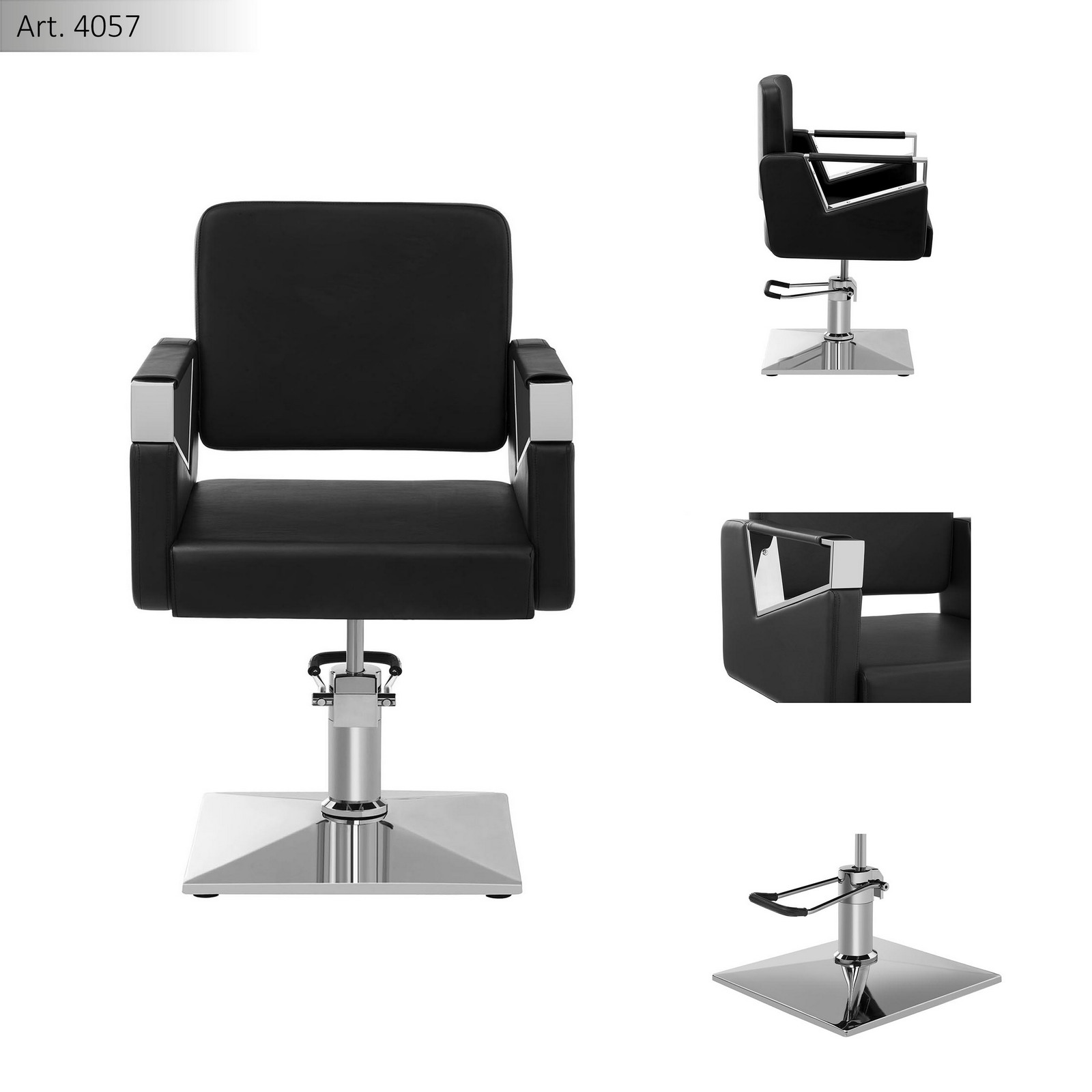 mobile barber chair with adjustable legs salon seat rotatable hairdresser