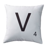 Personalized Letter Tile Pillow - Couch Pillow - Letter ...