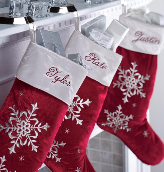 Red Velvet Christmas Stocking Personalized Exposures