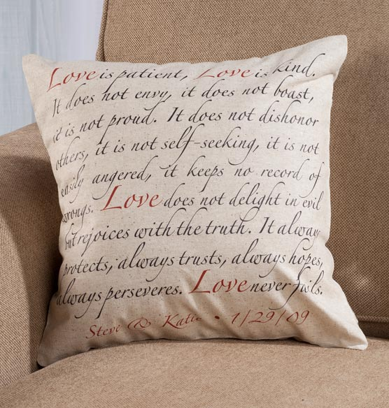 Love Is Patient Personalized Pillow Custom Pillow
