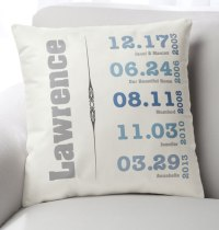 Family Timeline Pillow - Custom Throw Pillow - Exposures