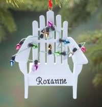 Personalized Beach Chair with Lights Ornament - Exposures