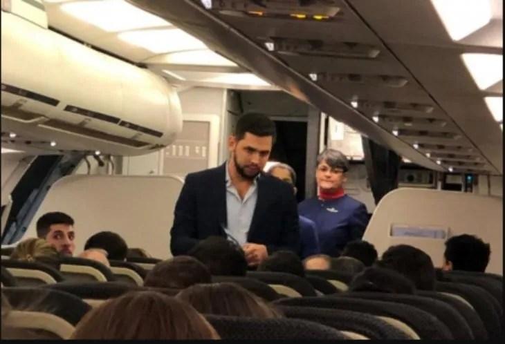 José Rodríguez fue escrachado por los pasajeros
