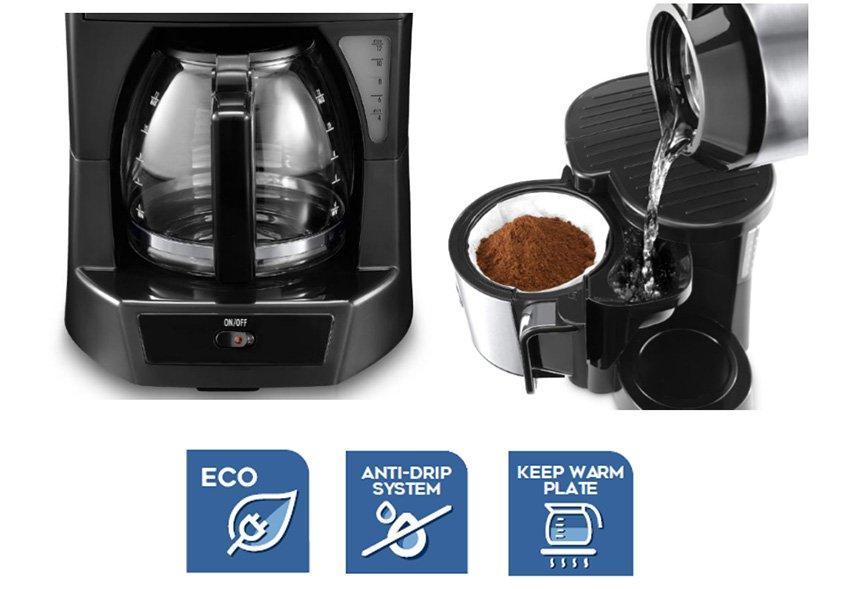 سعر ماكينة تقطير القهوة ديلونجي icm30 مواصفاتها ومميزاتها وعيوبها