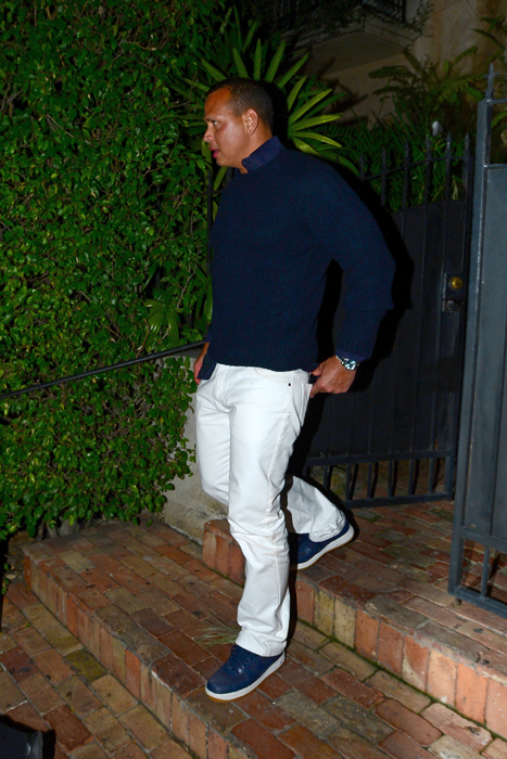 All Legs JLo Rocks BarelyThere Minidress While out with ARod  ExtraTVcom