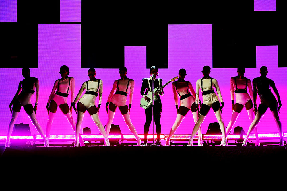 Janelle Monáe performs onstage during the 61st Annual GRAMMY Awards