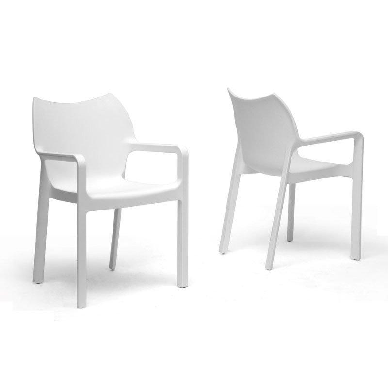 Sensational Studio Plastic Modern Dining Chair In White Inspirational Creativecarmelina Interior Chair Design Creativecarmelinacom