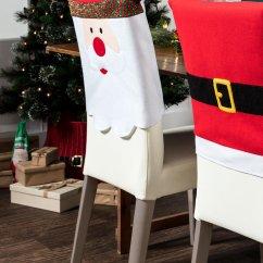 Santa Chair Covers Australia Parsons Chairs For Sale Christmas Cover Set 4 Online Shop Ezibuy Home