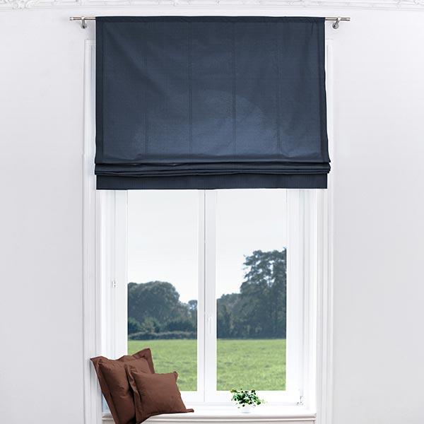 Tela para cortinas Brush  azul marino  Telas para