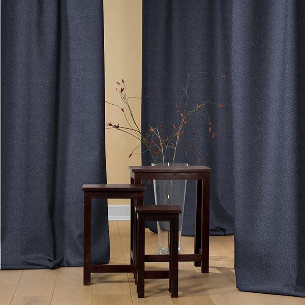 Tela de cortina trmica Manto  azul marino  Telas de