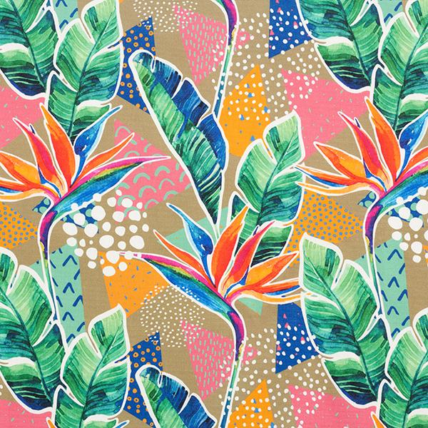 tissu d exterieur fleurs d oiseau de paradis rose vif
