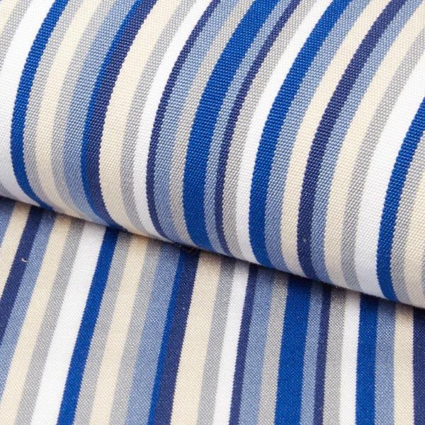tissu d exterieur pour chaise longue rayures verticales 44 cm bleu