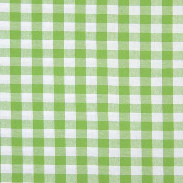 Tissu en coton Vichy - 1,7 cm – vert pomme