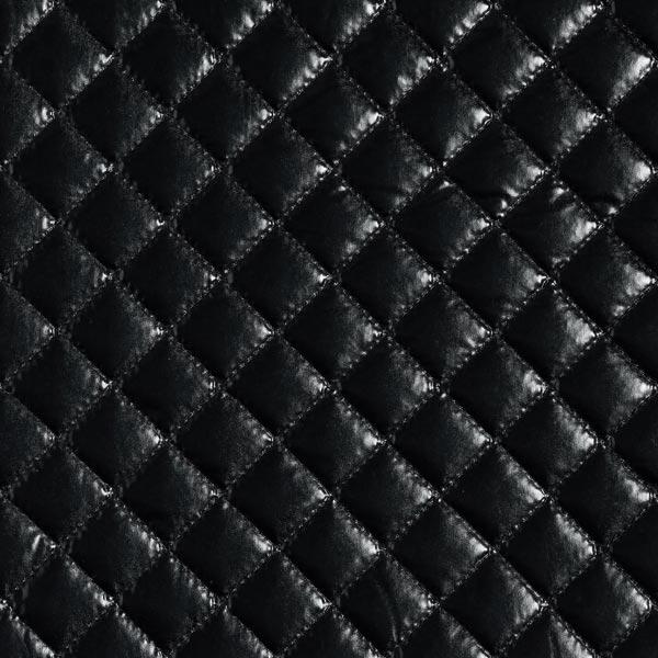 tissu feuille matelasse noir