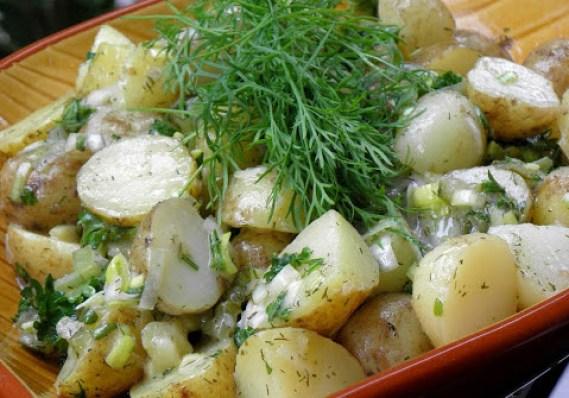 Potatissallad med örter