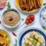 Asiatisk Buffè med sötpotatis och tofu