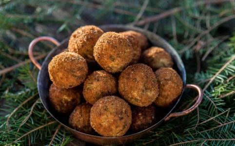 Arancini - friterade risbollar