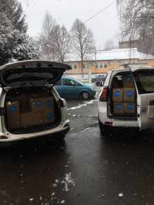 Hygienic packages delivered by UNICEF Kosovo