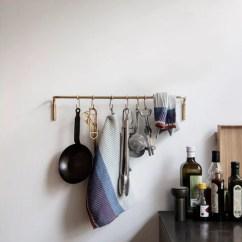Kitchen Hooks Tvs Ferm Living Rod With 6 Brass Finnish Design Shop