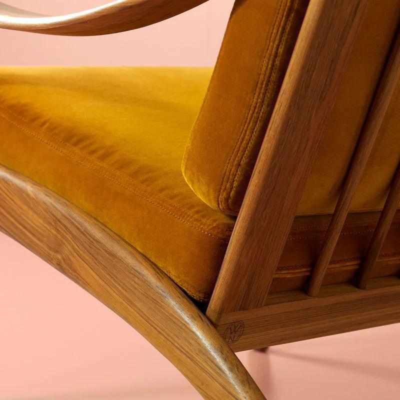 leanback lounger chairs airport massage chair warm nordic lean back lounge teak amber finnish design shop