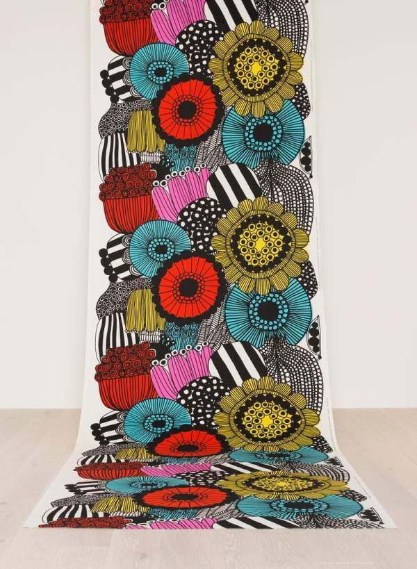 Marimekko Siirtolapuutarha Fabric Colourful Finnish