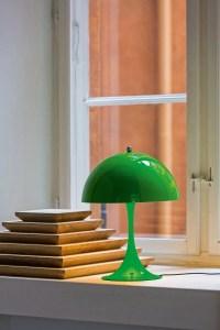 Louis Poulsen Panthella Mini table lamp, yellow-green ...