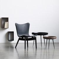 Mater Bowl table, medium, black | Finnish Design Shop