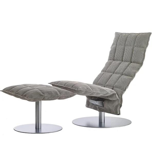Woodnotes K chair swivel base narrow stoneblack
