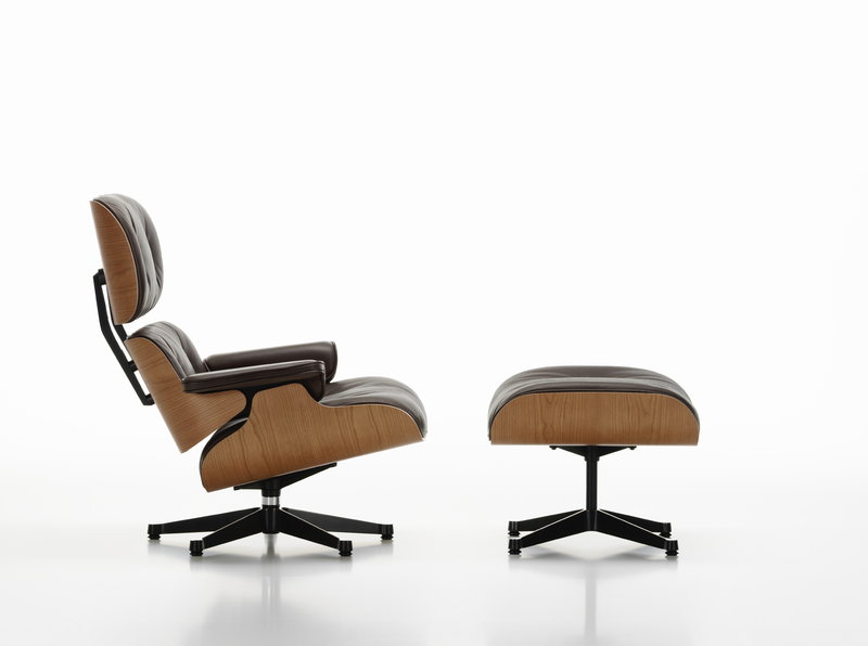 office chair ottoman in surat vitra eames lounge american cherry black leather