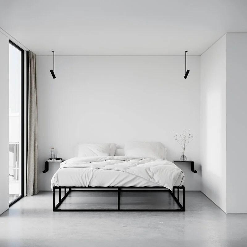 Ecco come scegliere le più giuste per la camera da letto. Nichba Mensola Da Parete Shelve02 Sinistra Nera Finnish Design Shop