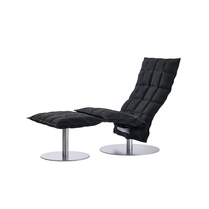 Woodnotes K chair swivel narrow black  Finnish Design Shop