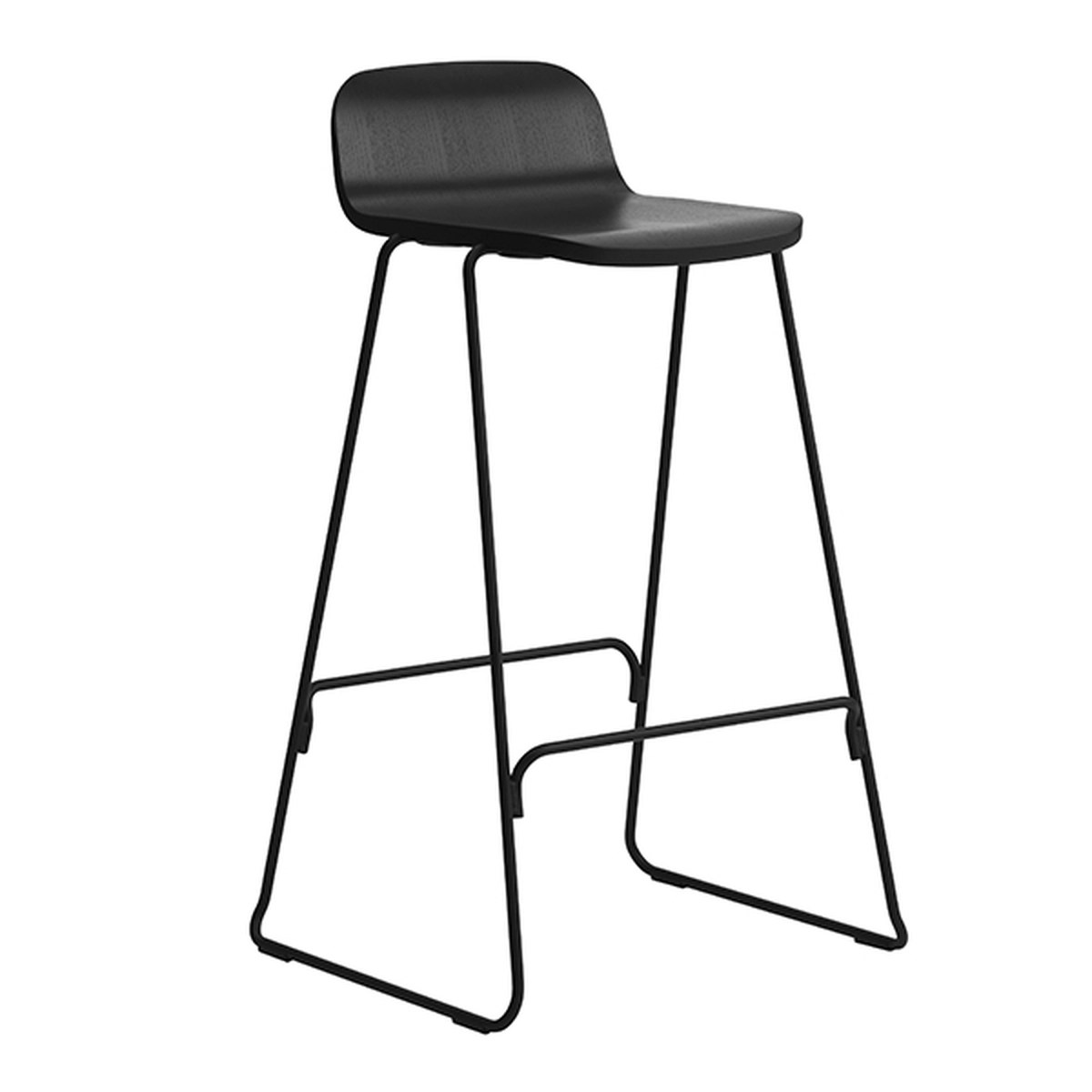 back of chair mannequin stand normann copenhagen just barstool 65 cm with rest