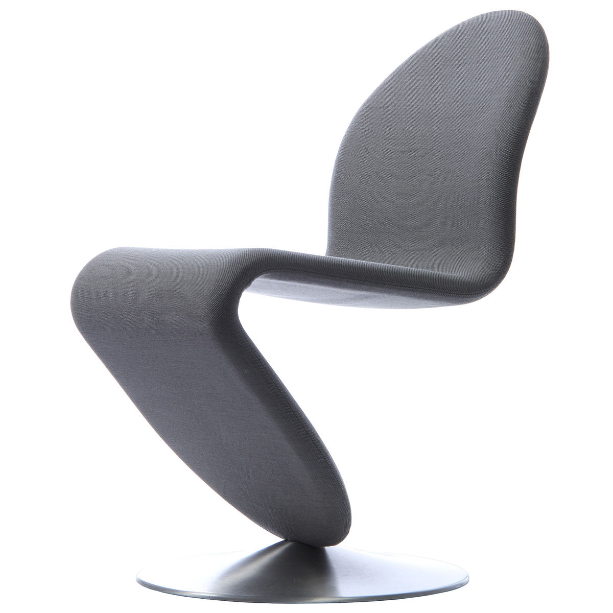 S Shaped Chair System 1 2 3 Dining Chair Grey Fabric