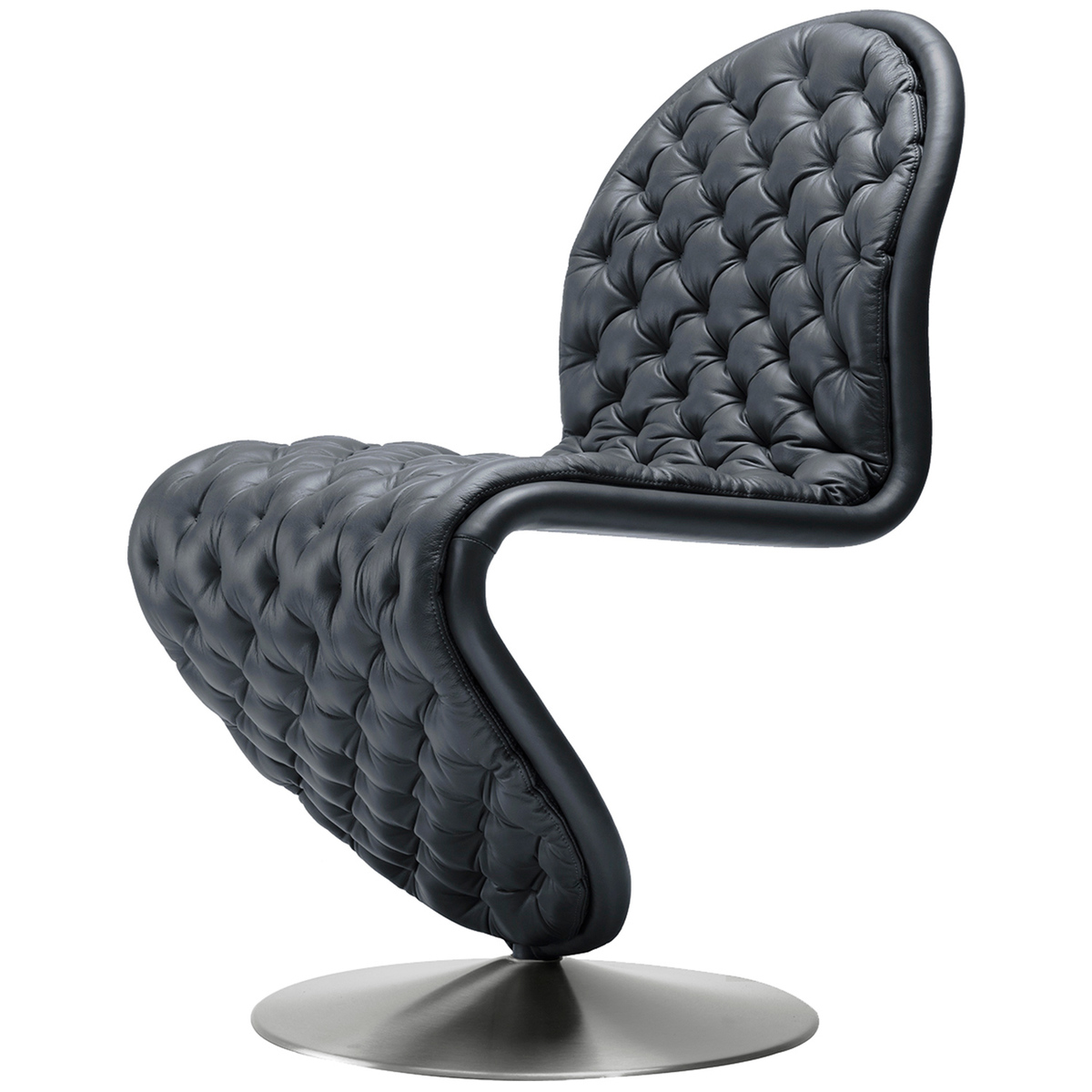 S Shaped Chair System 1 2 3 Deluxe Chair Black Leather