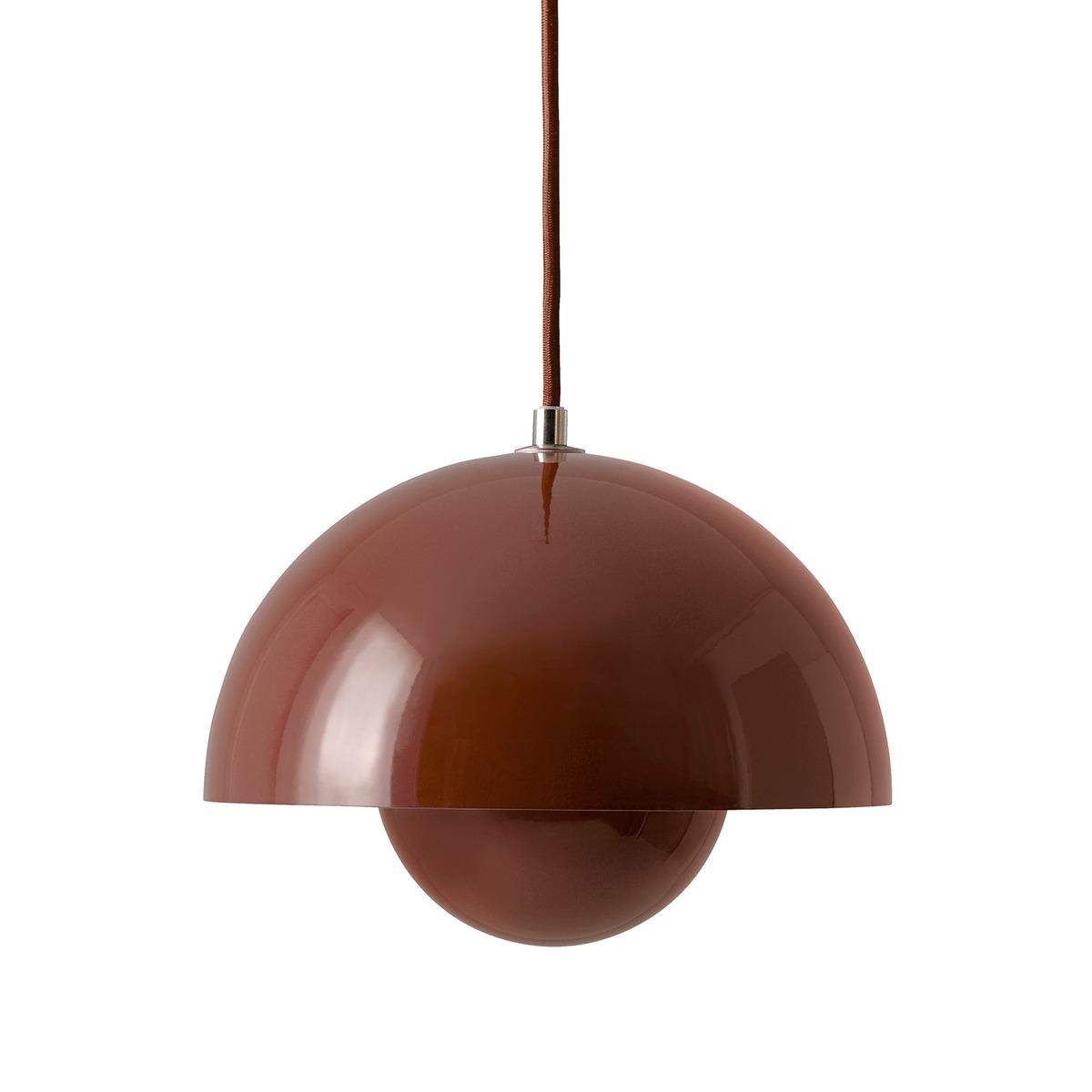 Tradition Flowerpot Vp1 Pendant Red Brown Finnish Design Shop