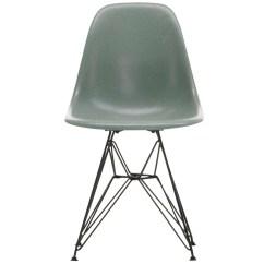 Eames Fiberglass Chair Restaurant Dining Chairs Uk Vitra Dsr Sea Foam Green Black Finnish