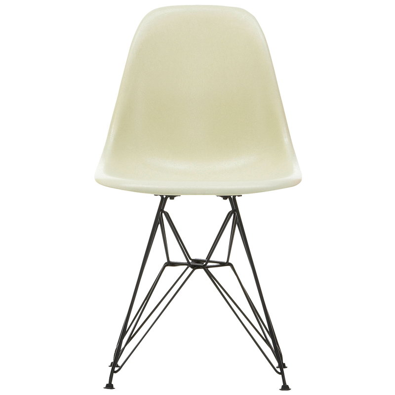 eames fiberglass chair karlstad slipcover vitra dsr parchment black finnish design