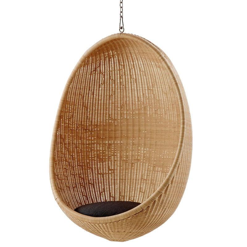 SikaDesign Hanging Egg chair dark grey seat cushion