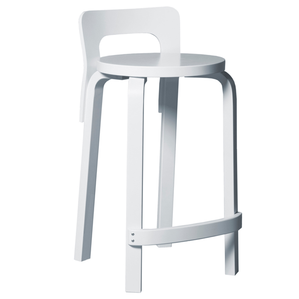 high chair wooden legs large saucer artek aalto k65 white finnish design shop
