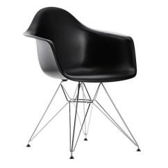 Black Eames Chair Girls Papasan Vitra Dar Chrome Finnish Design Shop