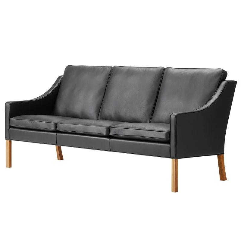 borge mogensen sofa model 2209 leather sofas lee longlands fredericia black walnut finnish design shop