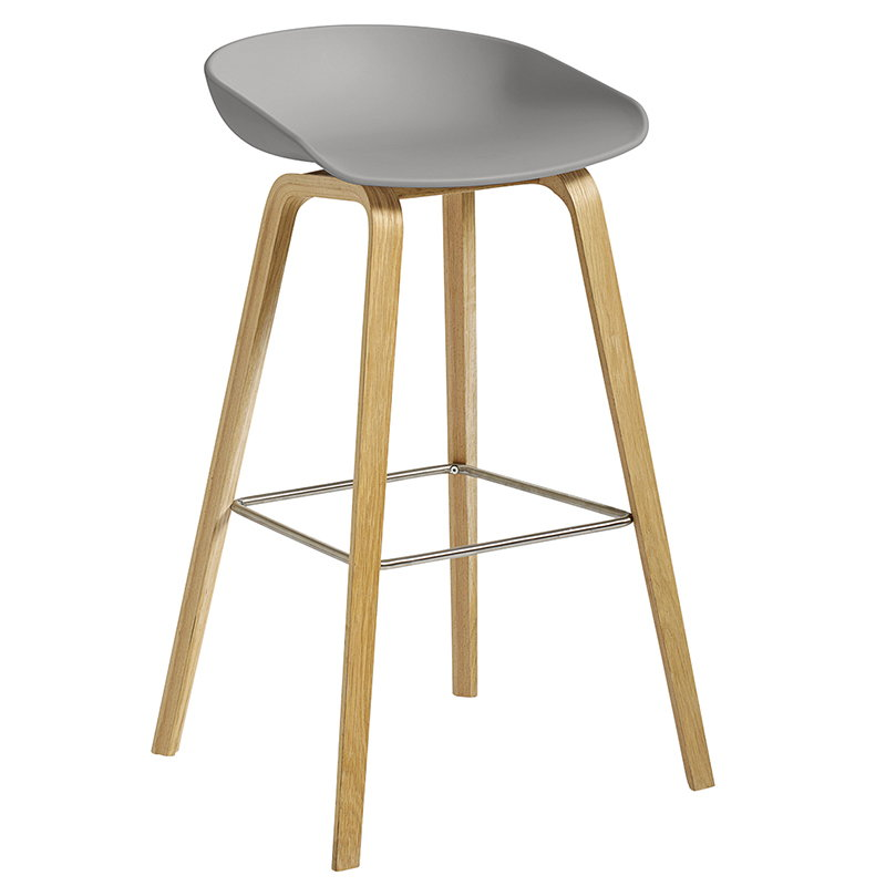 bar chairs concrete ebay chair covers used hay about a stool aas32 75 cm grey lacquered oak
