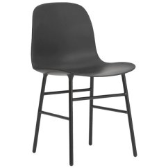 Chair Steel Legs Small Table With Chairs Normann Copenhagen Form Base Black Finnish Design Shop
