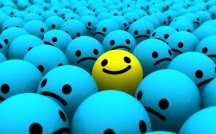 smiley face in a crowd