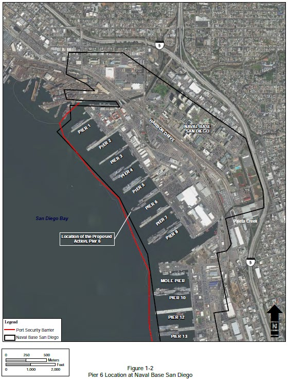San Diego Naval Base Map : diego, naval, Incidental, Authorization:, Naval, Diego, Replacement, Project,, Diego,, California, Fisheries