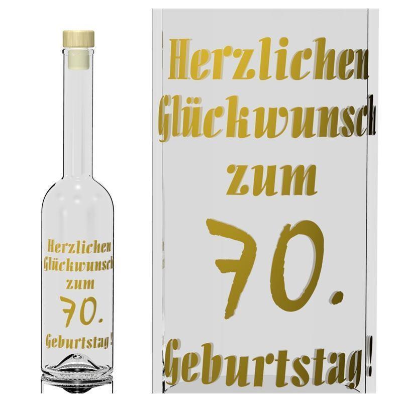 500ml Opera Geburtstagsflasche 70 Jahre  Flaschenlandde