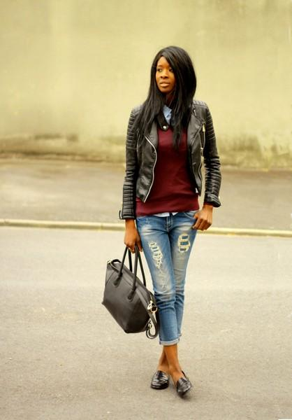 Ripped Jeans Amp Mocassins